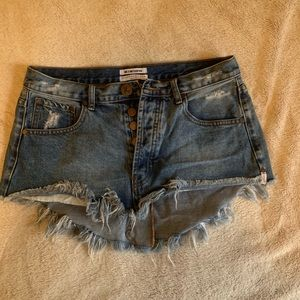 One Teaspoon Junk Yard Mini Skirt